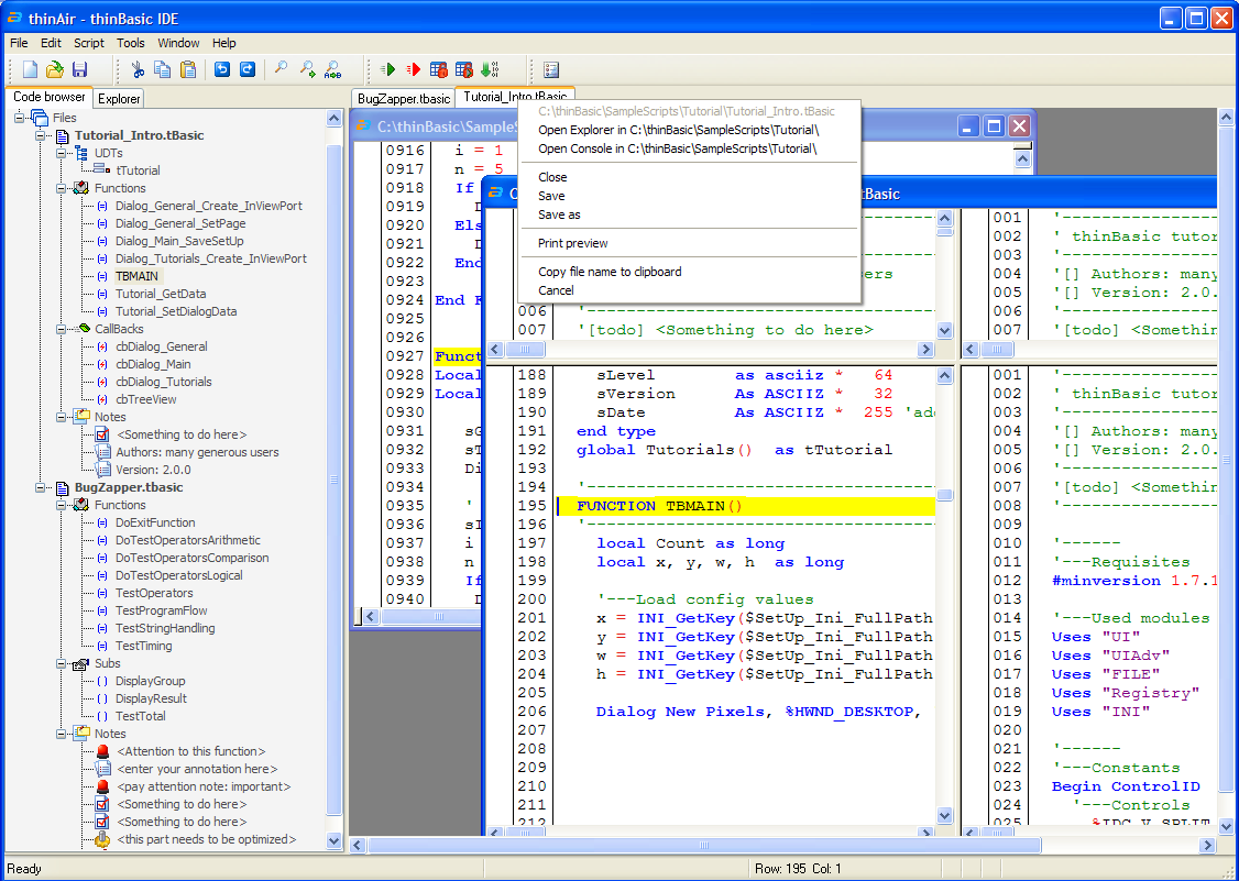 thinBasic programming language 1.8.9.0 screenshot